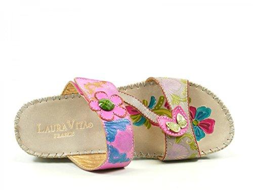 Vade cuero Laura LMD926 Zuecos Vita 15 fashion gris de mujer A74Bqxtw04