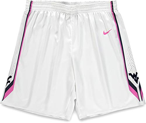 West Virginia Mountaineers Team-Issued White and Pink Shorts from the 2015-16 Basketball Season - Size 42 - Fanatics Authentic Certified