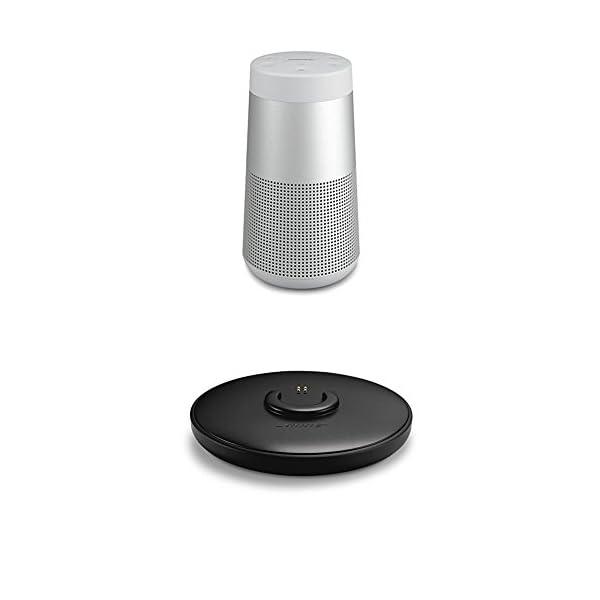 Bose SoundLink Revolve Enceinte Bluetooth Argent + Socle de chargement 1