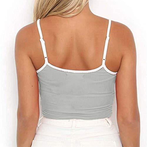 Camisetas Mujer Verano Blusa Tubo Sin Tirantes De Las Mujeres Tablero De Damas Impreso Streetwear Fuera del Hombro Crop Top Beladla: Amazon.es: Ropa y ...