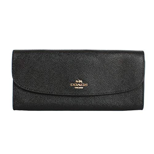 Coach F59949 Wallet in Crossgrain Leather BLACK