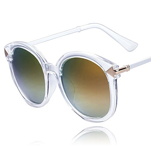 Cowalker Arrow Rim Clear Frame Fashion Sunglasses Color Film Eye