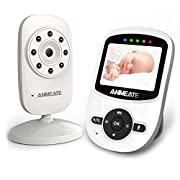 #LightningDeal Video Baby Monitor with Digital Camera, ANMEATE Digital 2.4Ghz Wireless Video Monitor with Temperature Monitor, 960ft Transmission Range, 2-Way Talk, Night Vision, High Capacity Battery (sm24)