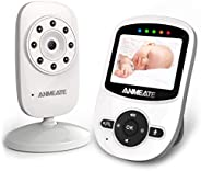 Video Baby Monitor with Digital Camera, ANMEATE Digital 2.4Ghz Wireless Video Monitor with Temperature Monitor