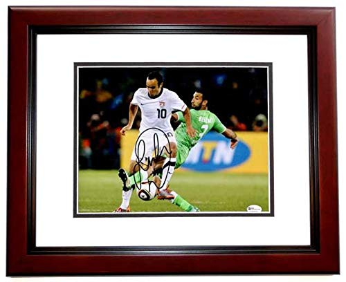 Signed Landon Donovan Photograph - 8x10 MAHOGANY CUSTOM FRAME LA - PSA/DNA Certified - Autographed Soccer Photos from Sports Memorabilia