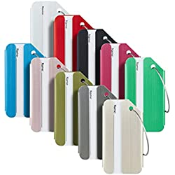 Travelambo Luggage Tags & Bag Tags Stainless Steel Aluminum Various Colors (mixed colors 10 pcs set)