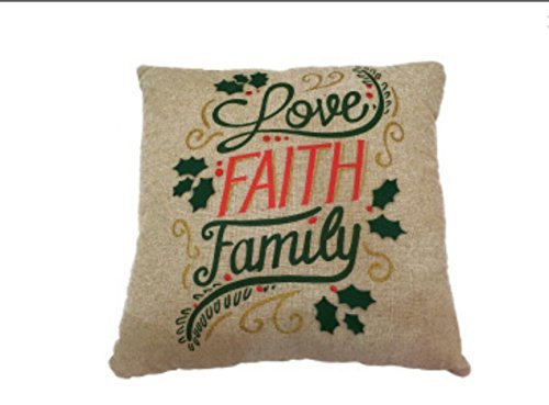 St. Nicholas Square ''Love, Faith, Family'' Throw Pillow by St. Nicholas Square