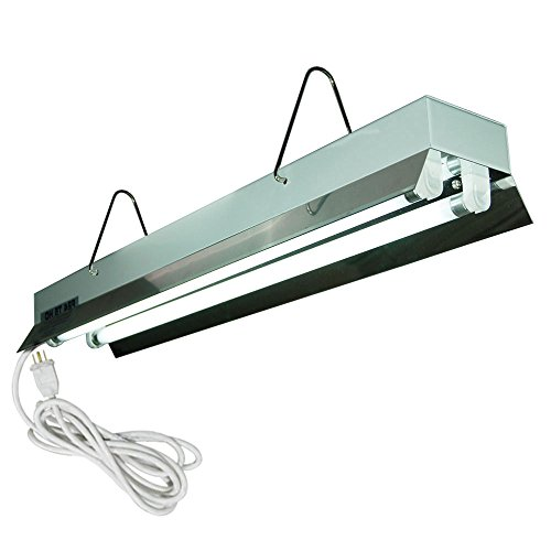 HTGSupply 2-Foot / 2-Tube High-Output T5 Fluorescent Grow Light Fixture, Bulbs Included