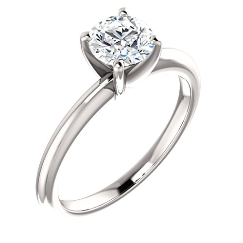 Tdw Prong Set - Solitaire Prong Set Diamond Engagement Ring 14k White Gold 1/4ct. TDW