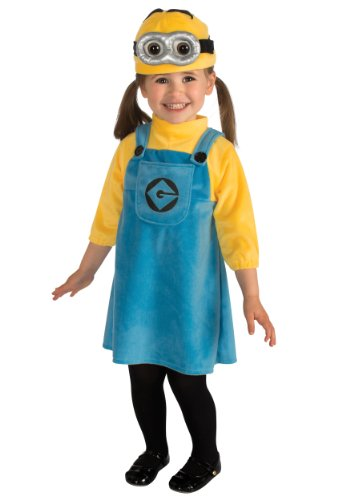 Despicable Me 2 Female Minion Costume, Toddler (Child Female Minion Costumes)