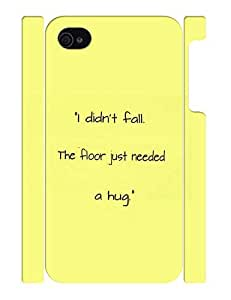 Fantastic Theme Smart Phone Case With Funny Quotes Design Back Case Cover for Iphone 4 4s