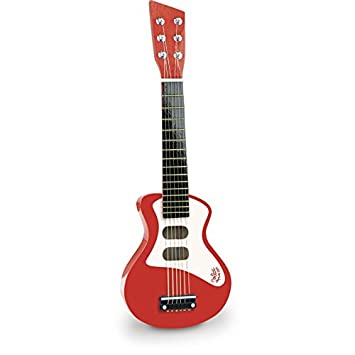 Vilac - Guitarra de Rock roja de Madera - V-8327: Amazon.es: Juguetes y juegos