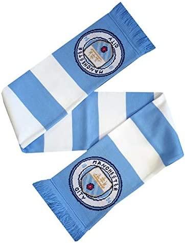 Manchester City Blanket /& Scarf Set Includes Pulse Fleece Blanket /& Striped Scarf