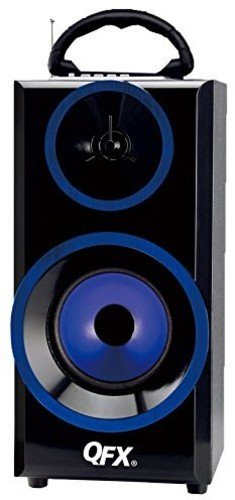 QFX BT-168BL Bluetooth Multimedia Boom Box with FM Radio - Blue