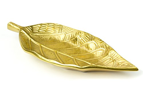 Golden Leaf Gilded Decorative Centerpiece Dish