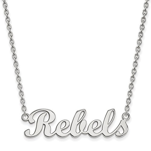 NCAA 10k White Gold U. of Mississippi Small Necklace by LogoArt