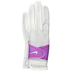 Nike GG0473 158 Women's Summerlite Golf Gloves, Large, White/Bold Berry/Hot Lava