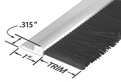 Stapled Set Strip Brush, PVC, Length 36 in