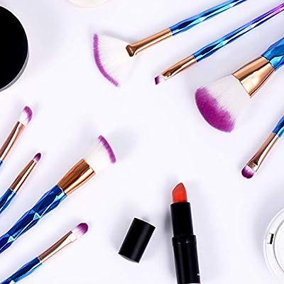 Makeup Brushes Premium Synthetic Foundation Brush Blending Face Powder Blush Concealers Eye ShadowsMake Up Brushes Kit,12Pcs (Blue)