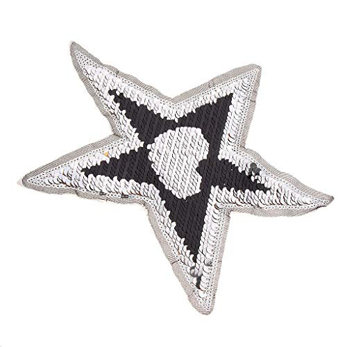 Star Sequin Color Changing Embroidery Patch Clothes Applique Sewing Crafts (Cutting Table Pixie)