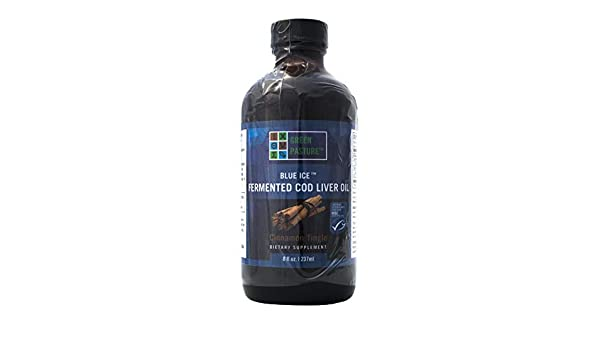 Green Pasture Blue Ice Cod Liver Oil Cinnamon Tingle Liquid - 8 Fl Oz. (237ml)=118 Servings by Carolina Herrera: Amazon.es: Salud y cuidado personal