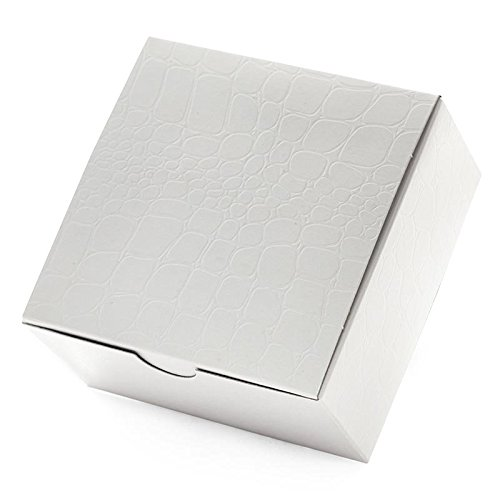Embossed Box - 100ea - 6 X 6 X 4 White Alligator Embossed Tuck Top Box