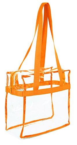 Klar 12x 12x 6NFL Stadion zugelassen Tasche mit 88,9cm Griffe–Orange Trim