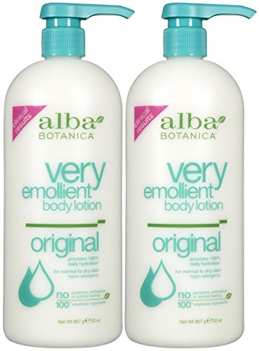 Moisturizing Emollient Botanica Alba Body Lotion Very Lotion (Alba Botanica Very Emollient Body Lotion - Original - 32 oz - 2 pk)