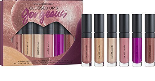 bareMinerals Glossed Up & Gorgeous 6-Piece Mini Moxie Plumping Lipgloss Collection Bare Escentuals Mini Lip
