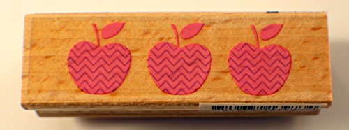 Apple Trio Whimsical Dotted Hampton Art Studio G Wooden Rubber Stamp