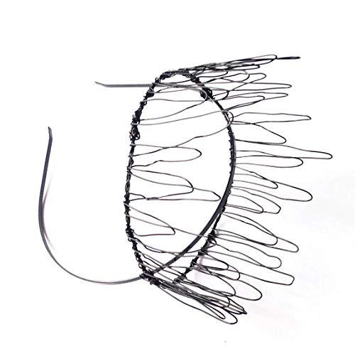 Wide Black Wire Crown Headband Alternative Gothic Wedding Tiara