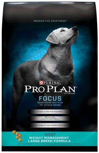 Purina Pro Plan Low Fat Large Breed Weight Management Dry Dog Food; FOCUS Weight Management Large Breed Formula - 34 lb. Bag