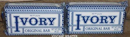 Ivory Soap Bars, Original Vintage Wrapper, (2 Bars) by Ivory (Vintage Ivory Soap)