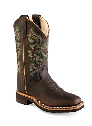 Old West Cowboy Boots Boys Girl Kid Crepe 3.5 Child Brown Oily BSY1822 - Old West Cowboy Clothing