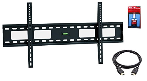[EASY MOUNT – Extra Slim Flat TV Wall Mount Bracket + High Speed HDMI Cable for 50