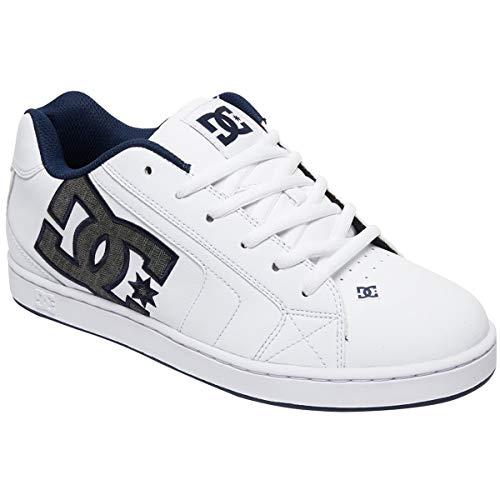 DC Men's Net Se-K Skate Shoe, White/Battleship, 10 M ()
