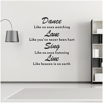 Wall Decals Quotes   Dance, Love, Sing, Live Vinyl Wall Sticker   Quotes