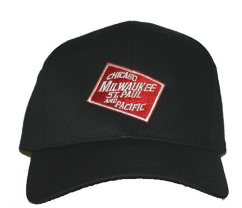 Chicago, Milwaukee, St. Paul and Pacific Railroad Embroidered Hat [hat53] Black