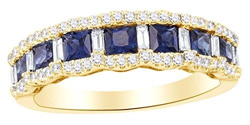 blue diamond ring princess cut - 5