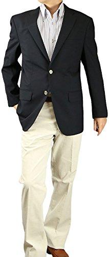 ブレザー 紺 メンズ ジャケット 紺ブレザー 春夏 ビジネス 春夏 82025 B00DQJFGE2 A体(標準) 7号(175-180)