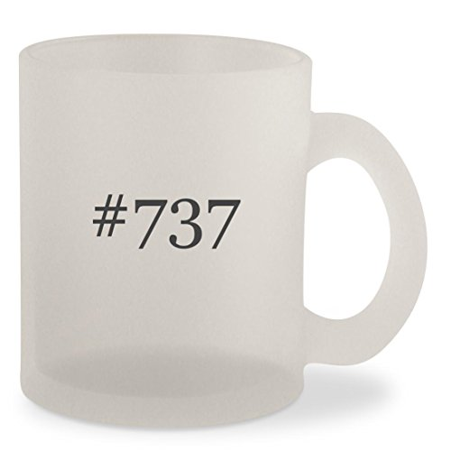#737 - Hashtag Frosted 10oz Glass Coffee Cup Mug