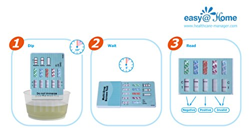 Easy@Home 5 Panel Instant Drug Test Kits (5 Pack) - Testing Marijuana (THC), COC, OPI 2000, AMP, BZO - Urine Dip Drug Testing - #EDOAP-754 by Easy@Home (Image #6)