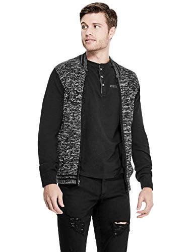 GUESS Factory Men's Neil Marled Bomber Sweater
