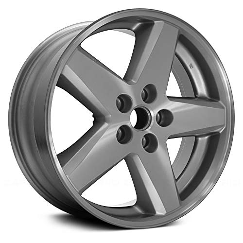 (Replacement 18X7 Alloy Wheel Machined and Silver 5 Spoke Fits Jeep Compass)