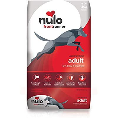 Nulo Frontrunner Dry Dog Food for Adult Dogs – Ancient Grain Inclusive Recipe - All Natural Pet Foods with High Taurine Levels - Animal Protein for Lean Strong Muscles