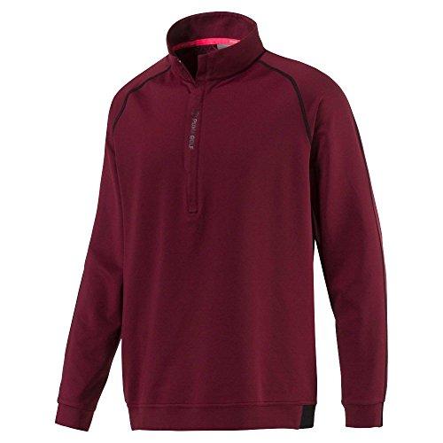 Puma Golf Men's 2018 PWR Warm 1/4 Zip Popover, Small, Pomegranate ()