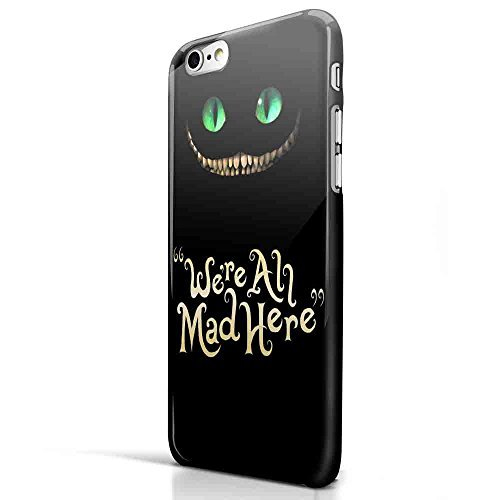 Cheshire Cat Alice in Wonderland Quote for Iphone and Samsung Galaxy Case (Iphone 6 Plus/6s plus Black)