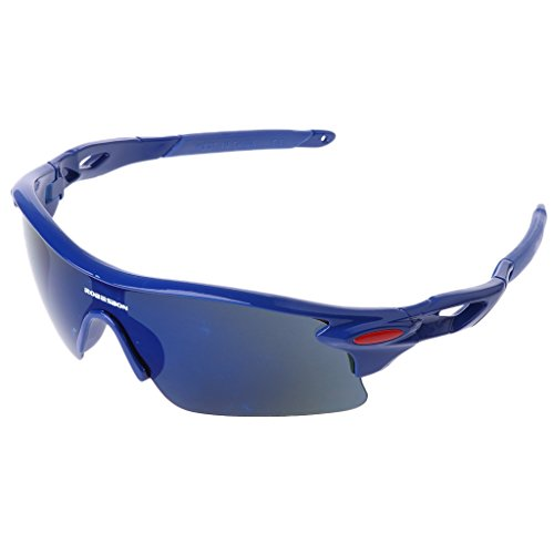 GaoCold Cycling Glasses UV400 Sunglasses Outdoor Sport Goggles Bicycle Eyewear for Men Women Blue Frames & Blue -