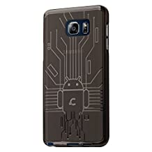 Galaxy Note 5 Case, Cruzerlite Bugdroid Circuit TPU Case Compatible for Samsung Galaxy Note 5 - Smoke