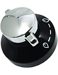 Diplomat Gas Hob Oven Cooker Knob Flame Control Switch (Black / Silver)